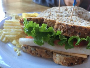 sandwich at the coffee girl