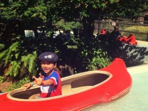 little canoe ride at Remlinger Farm