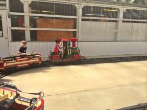 little kids train ride at remlinger farm