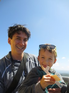 at the top of the Astoria Column