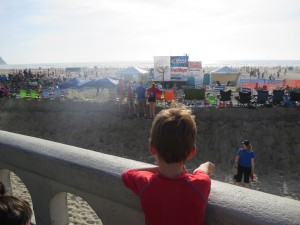 watching the volleyball tournament in Seaside