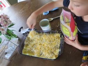 making all recipes enchilads