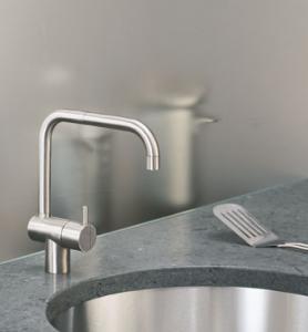 modern sleek kitchen faucet