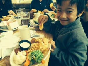 kid's meal at Webb's at the Summit at Snoqualmie