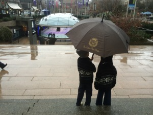 wet and rainy in vancouver with the Sutton Place hotel