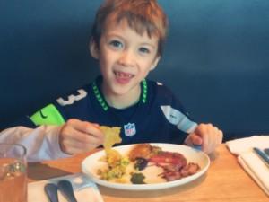 little Seattle Seahawaks football fan