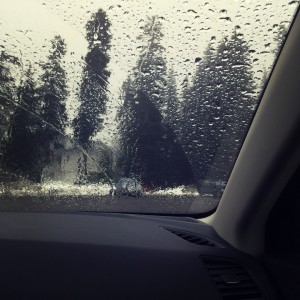 rain on winshield