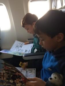 flying alaskaair with kids