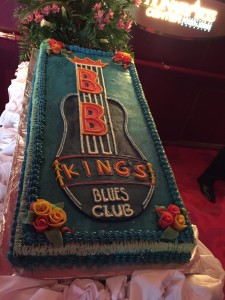 eating cake in the BB king blues club