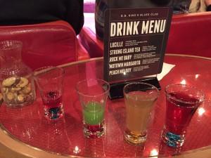 drink menu on MS westerdam