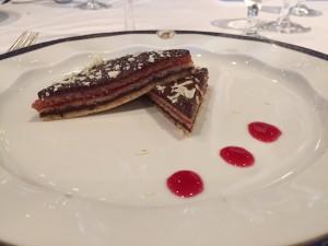 fancy cruise ship dessert