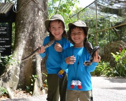Belize Zoo with kids on a tour with Sharon Matola