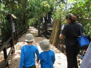 walking the Belize Zoo with Sharon