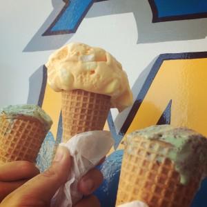 ice cream with marshmallows