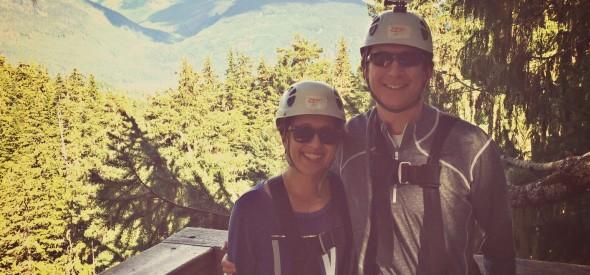 ziplining at whistler for anniversary