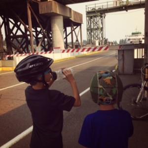 bike with kids on bainbridge island ferry