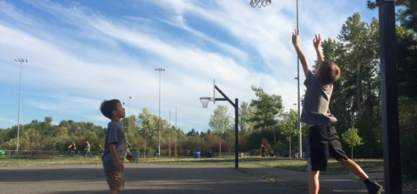 park with low basketball hoops in seattle