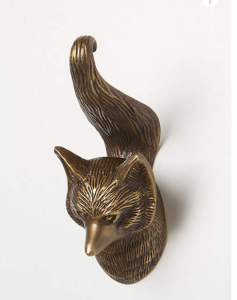 fox shaped hook for bathroom