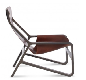 comfy chair for modern cabin blu dot design in brown
