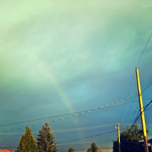 rainbow in the sky after a traumatic event