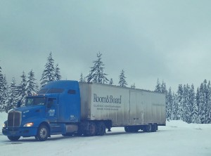 room and board delivered in the snow