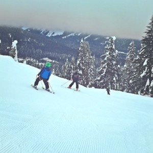 skiing with kids at Snoqualmie Pass Silver Fir Chair