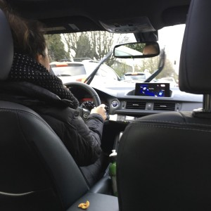 driving lexus ct in the rain in seattle