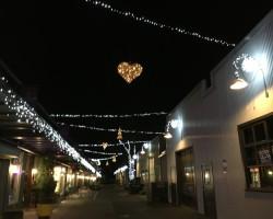 light display at granville island