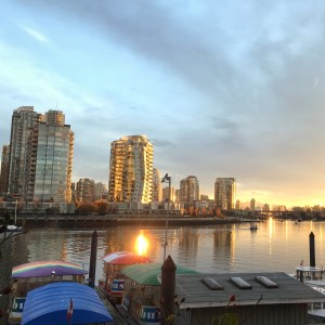 views from a superior room at granville island hotel