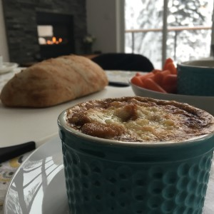 plats du chef vegetarian french onion soup