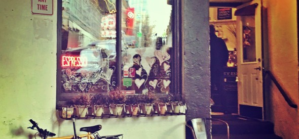 Ghost Alley Espresso is a cute coffee shop in Pike Place Market Seattle near the Gumwall