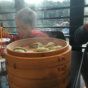 veggie dumplings at Din Tai Fung