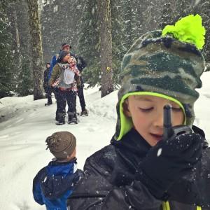 using motorola walkie talkies with kids on the mountain