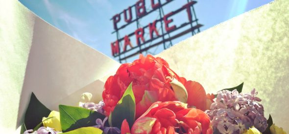 April is Peony Tulip Time in Pike Place Market
