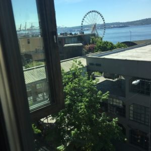 Sound View Cafe has amazing window seats in Pike Place Market