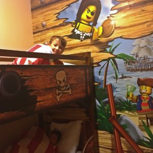 Pirate room Bunkbeds at Legoland hotel in california