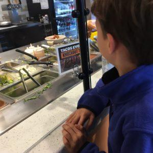 Ordering with kids at Qdoba