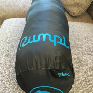 Rumpl blanket packed in bag