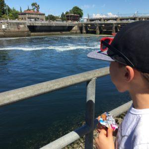 Ballard Locks with kids