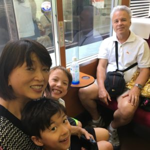 Multigenerational travel trip in japan