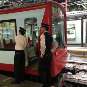 Train to Hakone in Japan