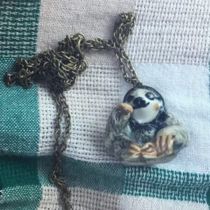 Sloth necklace from Edinburough