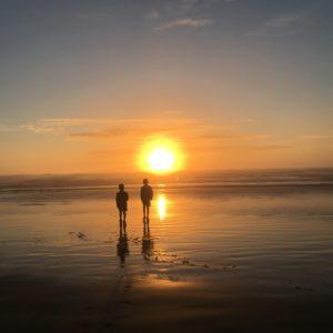 Cannon Beach sunset in Oregon