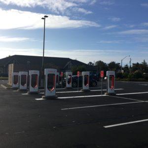 Tesla Supercharger in Seaside Oregon