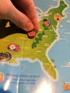 50 states sticker game with halos mandarin oranges