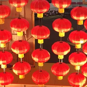 Chinese New Year decorations at Aberdeen Mall