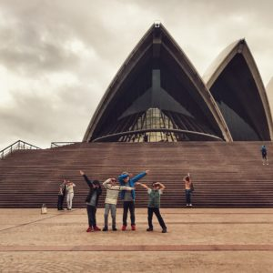 Sydney opera house with friends
