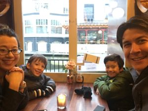 First pancakes in Amsterdam with kids