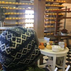 Cheese factory in Zaanse Schans Windmills in Holland with kids