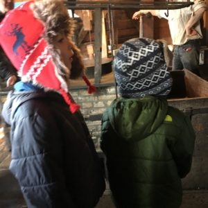 Learning about windmills in Zaanse Schans with kids